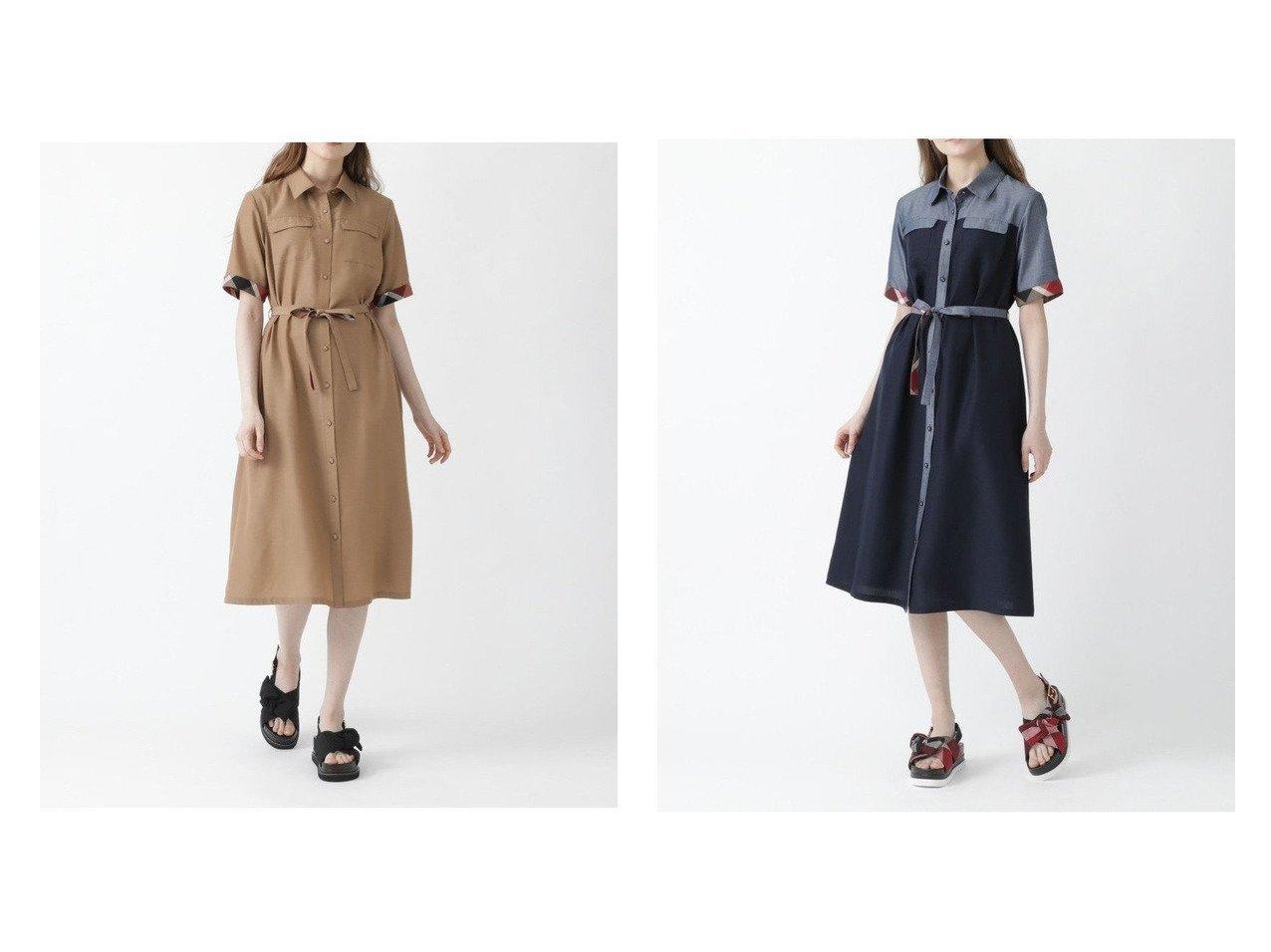 【BLUE LABEL CRESTBRIDGE/ブルーレーベル クレストブリッジ】のライトドライ・ダンガリーシャツドレス おすすめ!人気トレンド・レディースファッション通販 おすすめで人気の流行・トレンド、ファッションの通販商品 インテリア・家具・メンズファッション・キッズファッション・レディースファッション・服の通販 founy(ファニー) https://founy.com/ ファッション Fashion レディースファッション WOMEN ワンピース Dress ドレス Party Dresses シャツワンピース Shirt Dresses ガーリー スカラップ チェック ドレス フェミニン フロント ポケット レース 羽織 |ID:crp329100000046052