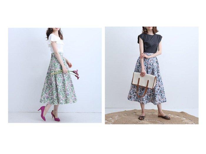 【Apuweiser-riche/アプワイザーリッシェ】のぼかしフラワータックスカート 【スカート】おすすめ!人気、トレンド・レディースファッションの通販 おすすめ人気トレンドファッション通販アイテム 人気、トレンドファッション・服の通販 founy(ファニー) ファッション Fashion レディースファッション WOMEN スカート Skirt Aライン/フレアスカート Flared A-Line Skirts エレガント ギャザー シンプル フラワー フレア |ID:crp329100000046114