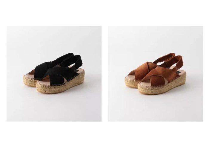 【green label relaxing / UNITED ARROWS/グリーンレーベル リラクシング / ユナイテッドアローズ】の[ ガイモ ] gaimo CFC クロス ウェッジ サンダル 【シューズ・靴】おすすめ!人気、トレンド・レディースファッションの通販 おすすめ人気トレンドファッション通販アイテム インテリア・キッズ・メンズ・レディースファッション・服の通販 founy(ファニー) https://founy.com/ ファッション Fashion レディースファッション WOMEN インソール ウェッジ クッション サンダル シューズ ハンド ラップ |ID:crp329100000046138