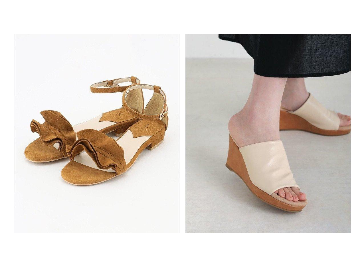 【KUMIKYOKU/組曲】のフリル アンクルサンダル&【Bou Jeloud/ブージュルード】のモッチリフィットウェッジサンダル 【シューズ・靴】おすすめ!人気、トレンド・レディースファッションの通販 おすすめで人気の流行・トレンド、ファッションの通販商品 インテリア・家具・メンズファッション・キッズファッション・レディースファッション・服の通販 founy(ファニー) https://founy.com/ ファッション Fashion レディースファッション WOMEN 送料無料 Free Shipping 2021年 2021 2021春夏・S/S SS/Spring/Summer/2021 S/S・春夏 SS・Spring/Summer アンクル サンダル シューズ スエード フェミニン フラット フリル ラップ リアル クッション ジャージ プチプライス・低価格 Affordable |ID:crp329100000046142