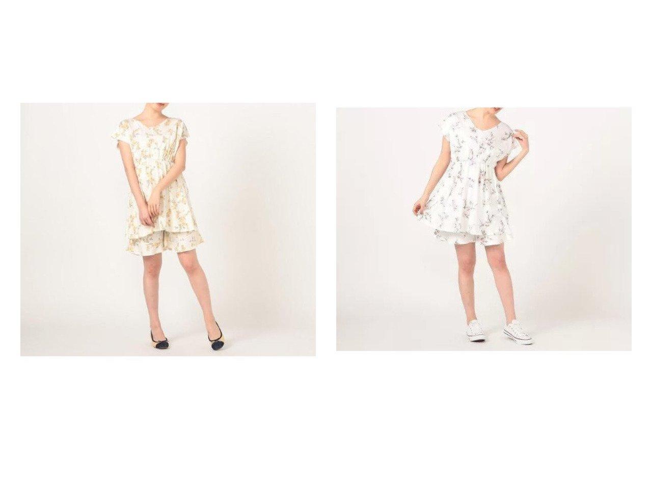 【LAISSE PASSE/レッセ パッセ】のサマーフラワープリント チュニック&パンツSET おすすめ!人気、トレンド・レディースファッションの通販 おすすめで人気の流行・トレンド、ファッションの通販商品 インテリア・家具・メンズファッション・キッズファッション・レディースファッション・服の通販 founy(ファニー) https://founy.com/ ファッション Fashion レディースファッション WOMEN セットアップ Setup パンツ Pants ギャザー チュニック フェミニン フレア フロント  ID:crp329100000046172