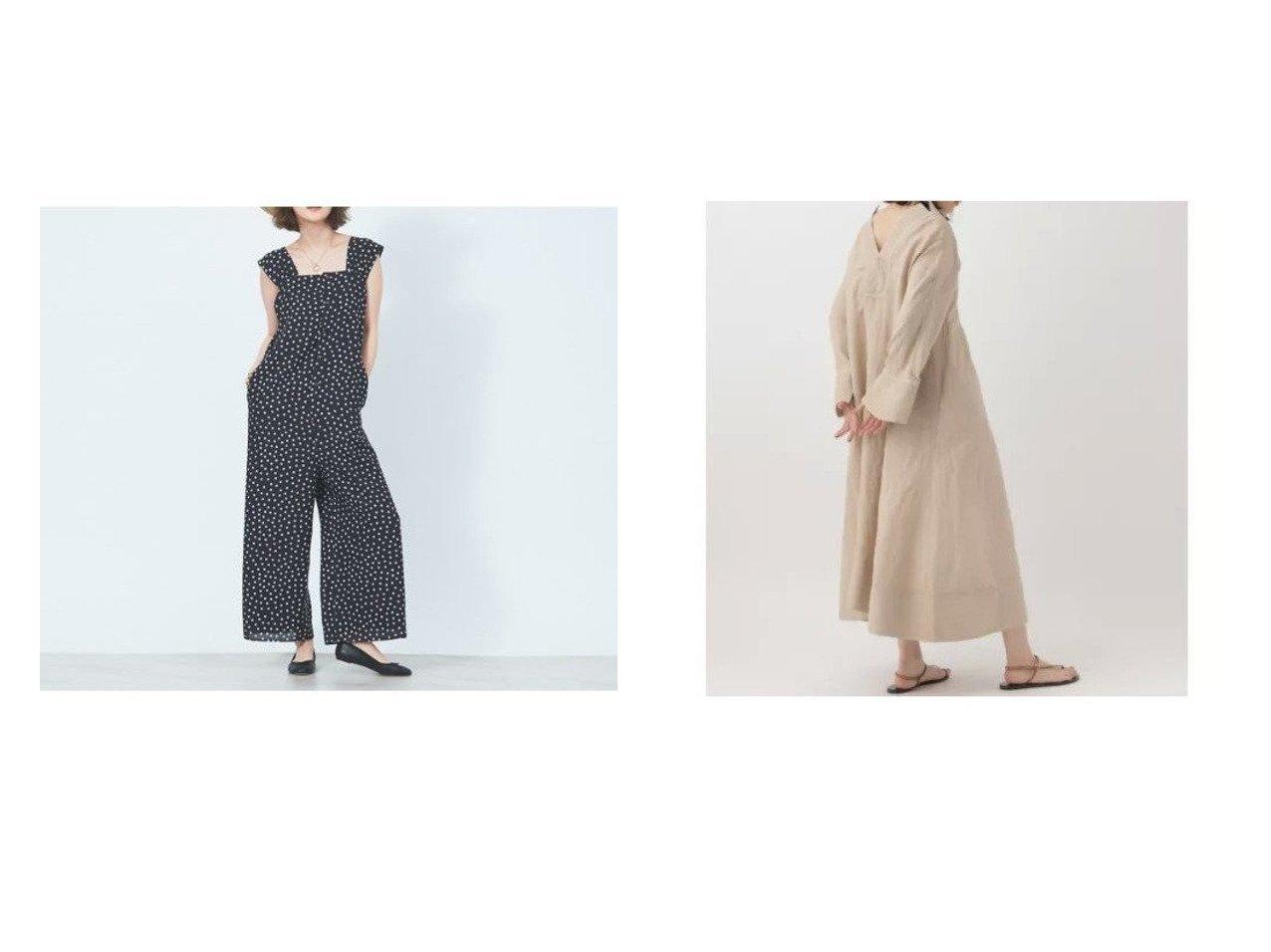 【Chaos/カオス】のCSアルパカリネンカフカワンピース&【Rouge vif/ルージュ ヴィフ】のドットプリントオールインワン 【ワンピース・ドレス】おすすめ!人気、トレンド・レディースファッションの通販 おすすめで人気の流行・トレンド、ファッションの通販商品 インテリア・家具・メンズファッション・キッズファッション・レディースファッション・服の通販 founy(ファニー) https://founy.com/ ファッション Fashion レディースファッション WOMEN ワンピース Dress オールインワン ワンピース All In One Dress キャミソール シンプル ドット プリント インナー ドレス フォルム ルーズ 長袖 |ID:crp329100000046227