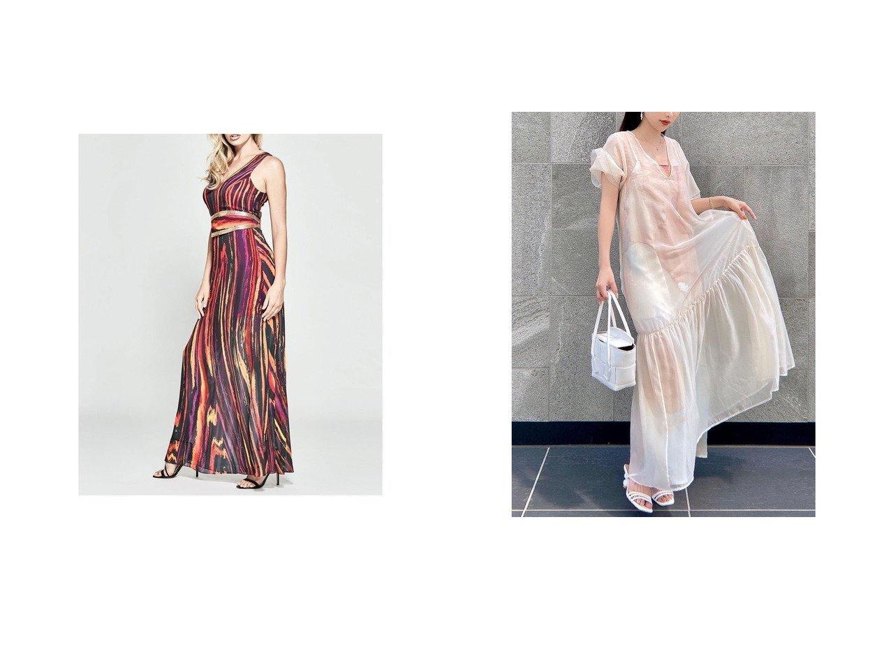 【eimy istoire/エイミーイストワール】のOil ink art シアーコンビレイヤードワンピース 無地&【GUESS/ゲス】のHeart On Fire Maxi Dress おすすめ!人気トレンド・レディースファッション通販 おすすめで人気の流行・トレンド、ファッションの通販商品 インテリア・家具・メンズファッション・キッズファッション・レディースファッション・服の通販 founy(ファニー) https://founy.com/ ファッション Fashion レディースファッション WOMEN ワンピース Dress ドレス Party Dresses マキシワンピース Maxi Dress S/S・春夏 SS・Spring/Summer おすすめ Recommend シアー ドレス プリント リゾート ロング 春 Spring インナー オイル 無地 |ID:crp329100000046275