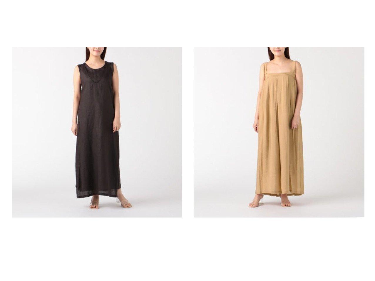 【normment/ノーメント】のramie apron dress&french rayon tuck dress おすすめ!人気トレンド・レディースファッション通販 おすすめで人気の流行・トレンド、ファッションの通販商品 インテリア・家具・メンズファッション・キッズファッション・レディースファッション・服の通販 founy(ファニー) https://founy.com/ ファッション Fashion レディースファッション WOMEN ワンピース Dress ドレス Party Dresses ノースリーブ ドレス フレンチ |ID:crp329100000046292