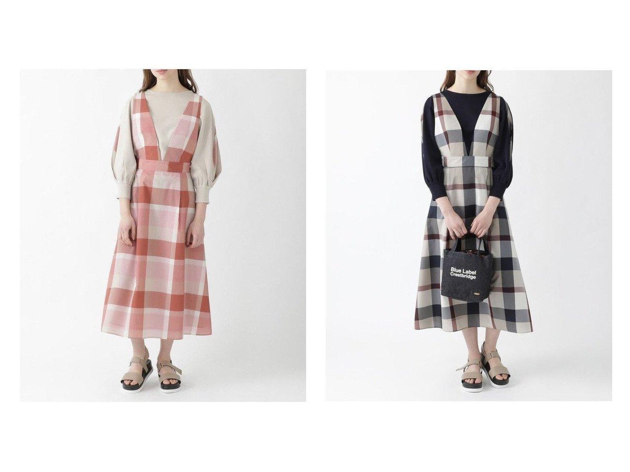 【BLUE LABEL CRESTBRIDGE/ブルーレーベル クレストブリッジ】のクレストブリッジチェックエコナイロンワッシャー ジャンパードレス おすすめ!人気トレンド・レディースファッション通販 おすすめで人気の流行・トレンド、ファッションの通販商品 インテリア・家具・メンズファッション・キッズファッション・レディースファッション・服の通販 founy(ファニー) https://founy.com/ ファッション Fashion レディースファッション WOMEN ワンピース Dress ドレス Party Dresses シャツワンピース Shirt Dresses おすすめ Recommend インナー カットソー トレンド ドレス フィット フェミニン フレア リボン 日本製 Made in Japan  ID:crp329100000046434