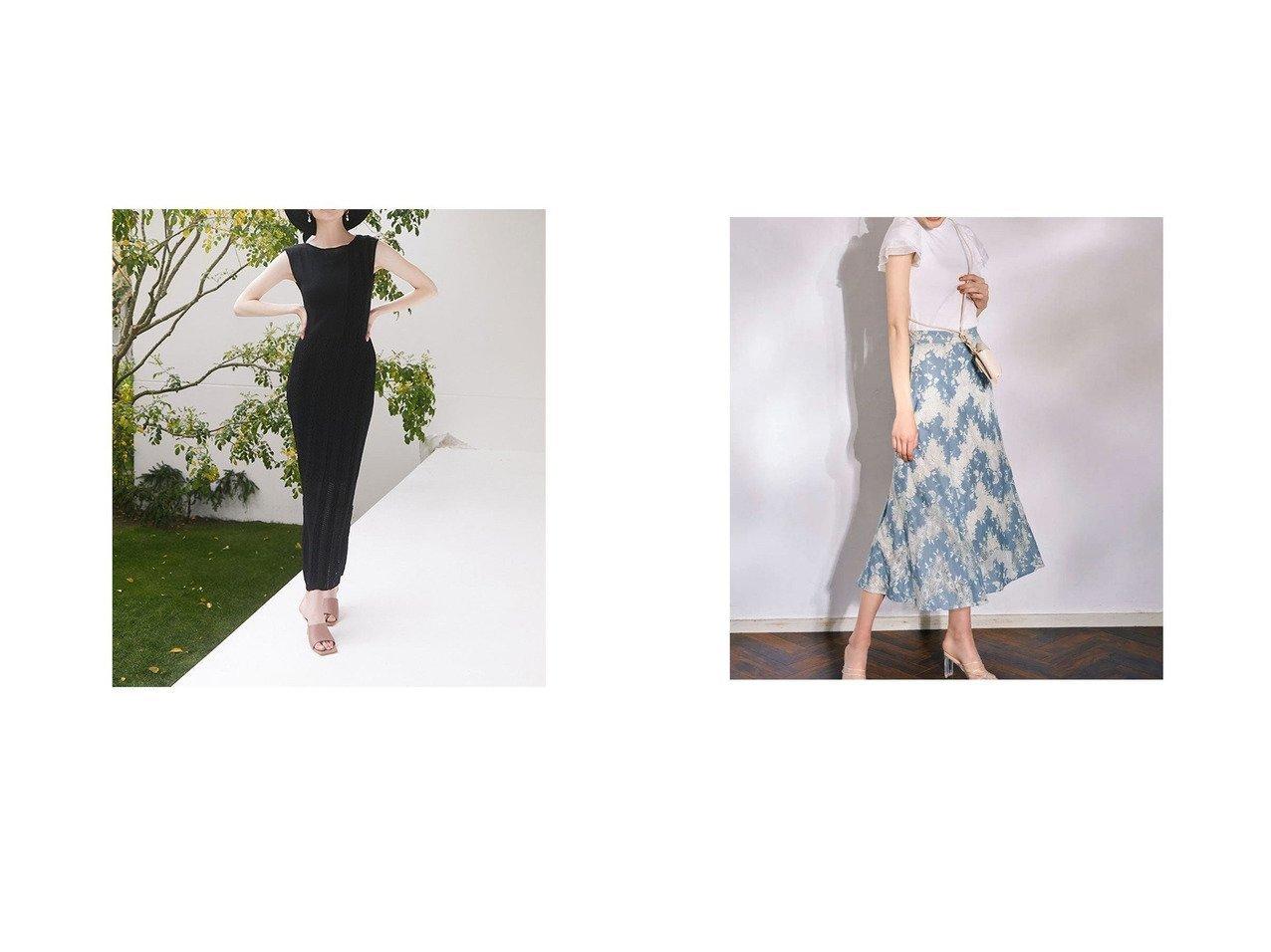【ROYAL PARTY/ロイヤルパーティー】の配色レーススカート&【eimy istoire/エイミーイストワール】のwatermark スイッチニットワンピース おすすめ!人気トレンド・レディースファッション通販 おすすめで人気の流行・トレンド、ファッションの通販商品 インテリア・家具・メンズファッション・キッズファッション・レディースファッション・服の通販 founy(ファニー) https://founy.com/ ファッション Fashion レディースファッション WOMEN ワンピース Dress ニットワンピース Knit Dresses スカート Skirt おすすめ Recommend インナー キャミソール サマー スリット ペチコート 2021年 2021 2021春夏・S/S SS/Spring/Summer/2021 S/S・春夏 SS・Spring/Summer フレア レース 春 Spring  ID:crp329100000046435