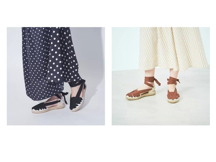 【Rouge vif/ルージュ ヴィフ】の【LA MANUAL ALPARGATERA 】レースアップサンダル 【シューズ・靴】おすすめ!人気トレンド・レディースファッション通販 おすすめ人気トレンドファッション通販アイテム インテリア・キッズ・メンズ・レディースファッション・服の通販 founy(ファニー) https://founy.com/ ファッション Fashion レディースファッション WOMEN コレクション サンダル シューズ ハンド バスク レース |ID:crp329100000046509