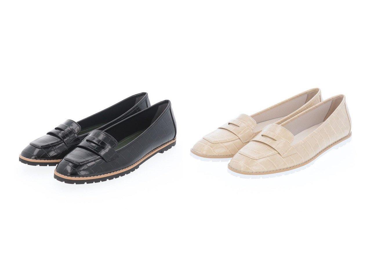 【artemis by DIANA/アルテミス バイ ダイアナ】のクロコ型押しスクエアトゥローファー 【シューズ・靴】おすすめ!人気トレンド・レディースファッション通販 おすすめで人気の流行・トレンド、ファッションの通販商品 インテリア・家具・メンズファッション・キッズファッション・レディースファッション・服の通販 founy(ファニー) https://founy.com/ ファッション Fashion レディースファッション WOMEN おすすめ Recommend クロコ シューズ トレンド 春 Spring |ID:crp329100000046514
