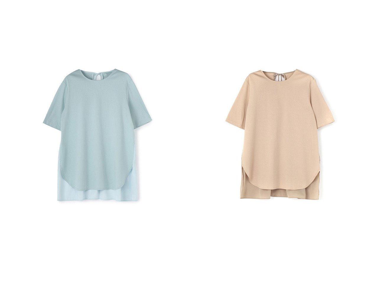 【Vingt-Neuf 29/ヴァンヌフ】の後ろリボン&ティアードTシャツ 【トップス・カットソー】おすすめ!人気、トレンド・レディースファッションの通販 おすすめで人気の流行・トレンド、ファッションの通販商品 インテリア・家具・メンズファッション・キッズファッション・レディースファッション・服の通販 founy(ファニー) https://founy.com/ 雑誌掲載アイテム Magazine Items ファッション雑誌 Fashion Magazines ストーリィ STORY ファッション Fashion レディースファッション WOMEN トップス・カットソー Tops/Tshirt シャツ/ブラウス Shirts/Blouses ロング / Tシャツ T-Shirts 春 Spring カッティング 今季 7月号 シンプル スリット 雑誌 とろみ チェック ティアード トレンド 人気 バランス フィット フロント 6月号 ラウンド リボン 2021年 2021 S/S・春夏 SS・Spring/Summer 2021春夏・S/S SS/Spring/Summer/2021 夏 Summer  ID:crp329100000047027