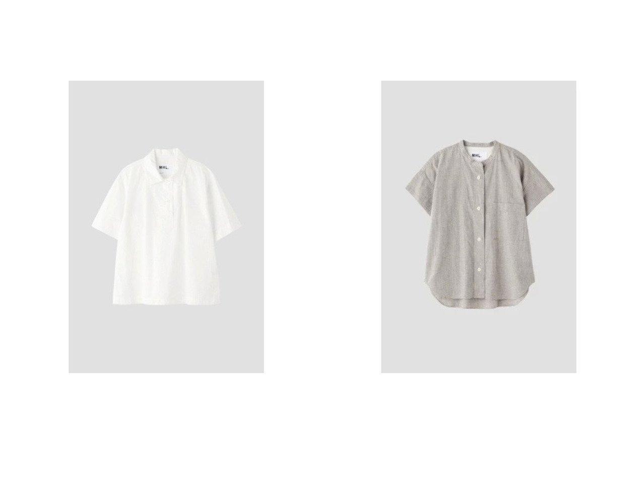 【MHL/エムエイチエル】のNATURAL WASHED COTTON LINEN&SHEET COTTON LINEN 【トップス・カットソー】おすすめ!人気、トレンド・レディースファッションの通販 おすすめで人気の流行・トレンド、ファッションの通販商品 インテリア・家具・メンズファッション・キッズファッション・レディースファッション・服の通販 founy(ファニー) https://founy.com/ ファッション Fashion レディースファッション WOMEN トップス・カットソー Tops/Tshirt シャツ/ブラウス Shirts/Blouses ポロシャツ リネン 半袖  ID:crp329100000047032