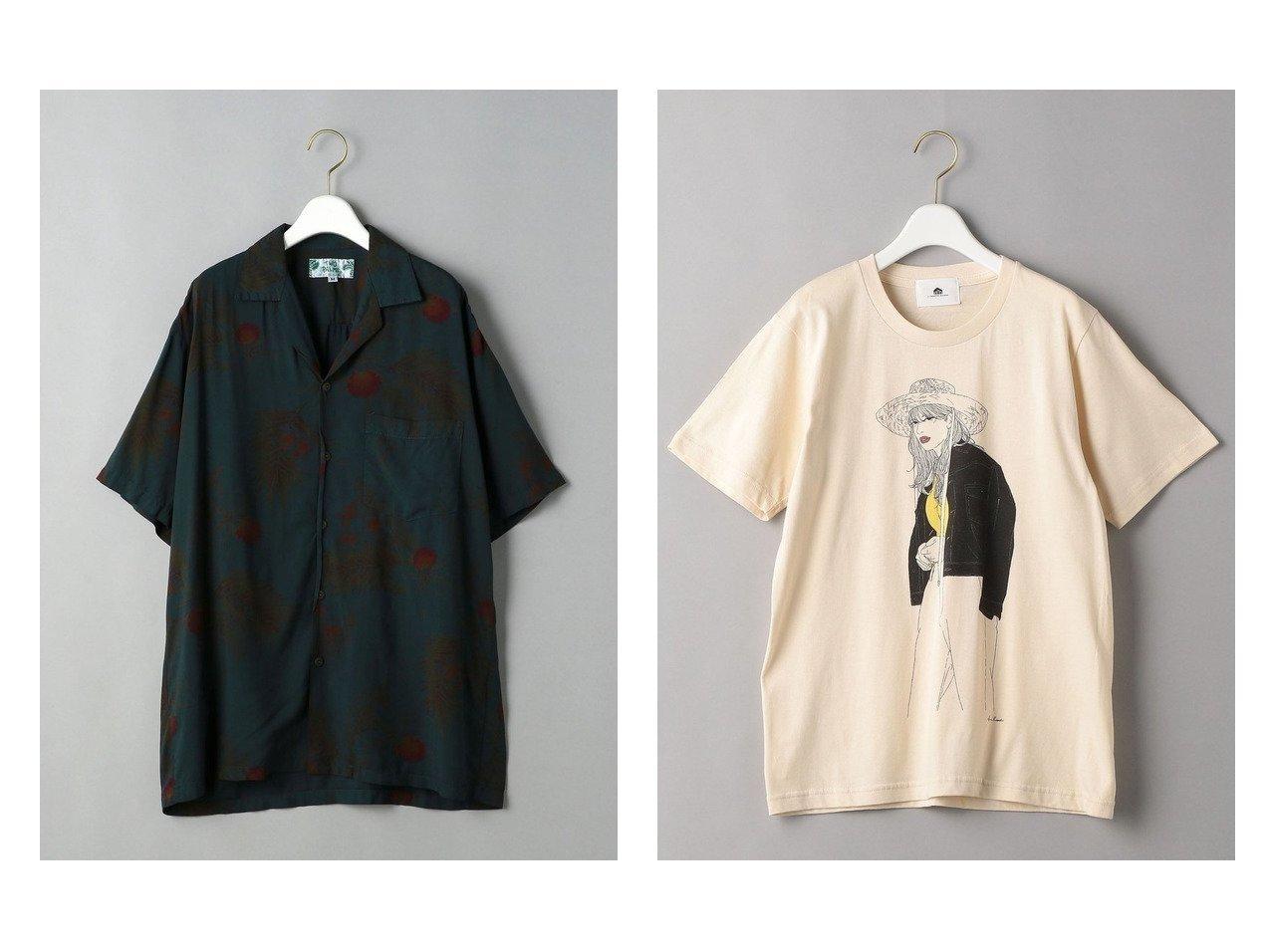 【BEAUTY&YOUTH / UNITED ARROWS/ビューティ&ユース ユナイテッドアローズ】の【別注】 I CREATOR MAISON グラフィックTシャツ&【別注】 TWO PALMS アロハシャツ 別注・限定・コラボなど、おすすめ!人気トレンド・レディースファッション通販 おすすめで人気の流行・トレンド、ファッションの通販商品 インテリア・家具・メンズファッション・キッズファッション・レディースファッション・服の通販 founy(ファニー) https://founy.com/ ファッション Fashion レディースファッション WOMEN トップス・カットソー Tops/Tshirt シャツ/ブラウス Shirts/Blouses ロング / Tシャツ T-Shirts カットソー Cut and Sewn NEW・新作・新着・新入荷 New Arrivals S/S・春夏 SS・Spring/Summer おすすめ Recommend アロハ トレンド フロント リラックス 人気 別注 半袖 夏 Summer 春 Spring イラスト カットソー グラフィック スタイリッシュ 定番 Standard |ID:crp329100000047101