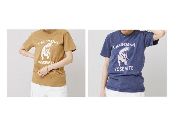 【Curensology/カレンソロジー】の【Mixta】YOSEMITE BEAR Tシャツ 別注・限定・コラボなど、おすすめ!人気トレンド・レディースファッション通販 おすすめ人気トレンドファッション通販アイテム 人気、トレンドファッション・服の通販 founy(ファニー) ファッション Fashion レディースファッション WOMEN トップス・カットソー Tops/Tshirt シャツ/ブラウス Shirts/Blouses ロング / Tシャツ T-Shirts カットソー Cut and Sewn カリフォルニア グラフィック シンプル デニム プリント 別注 モチーフ NEW・新作・新着・新入荷 New Arrivals おすすめ Recommend 夏 Summer |ID:crp329100000047117