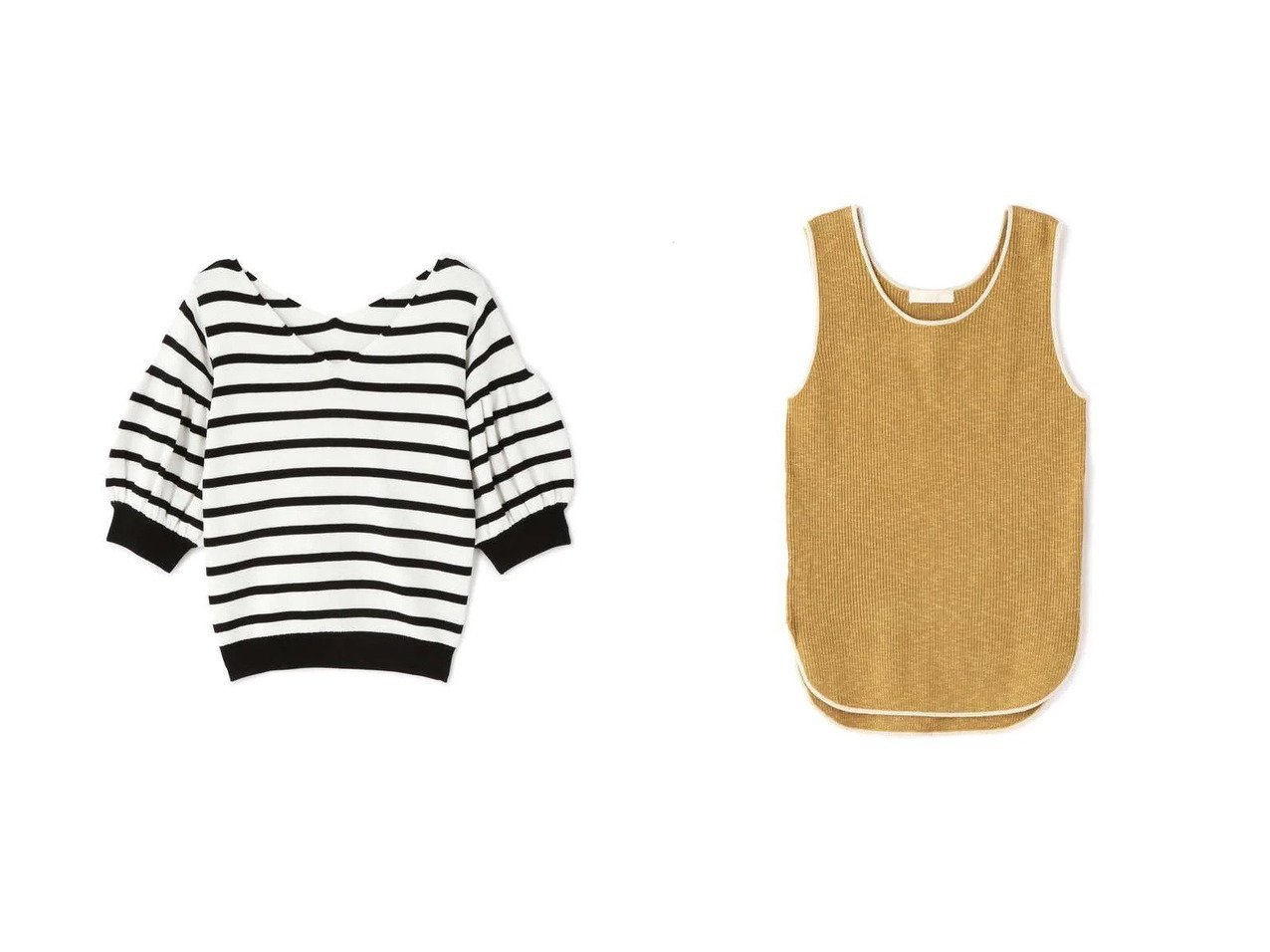 【FREE'S MART/フリーズマート】の配色バインダールーズニットタンク&ボリュームスリーブVネックニット 【プチプライス・低価格】おすすめ!人気トレンド・レディースファッション通販  おすすめで人気の流行・トレンド、ファッションの通販商品 インテリア・家具・メンズファッション・キッズファッション・レディースファッション・服の通販 founy(ファニー) https://founy.com/ ファッション Fashion レディースファッション WOMEN トップス・カットソー Tops/Tshirt ニット Knit Tops Vネック V-Neck ボリュームスリーブ / フリル袖 Volume Sleeve シンプル スリーブ デコルテ フェミニン 今季 スリット タンク バランス  ID:crp329100000047415