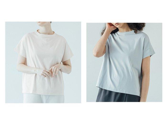 【Bshop/ビショップ】の【handvaerk】ボトルネック 半袖Tシャツ WOMEN おすすめ!人気、トレンド・レディースファッションの通販 おすすめ人気トレンドファッション通販アイテム 人気、トレンドファッション・服の通販 founy(ファニー) ファッション Fashion レディースファッション WOMEN トップス・カットソー Tops/Tshirt シャツ/ブラウス Shirts/Blouses ロング / Tシャツ T-Shirts カットソー Cut and Sewn おすすめ Recommend カットソー ボトルネック リラックス 半袖  ID:crp329100000047460