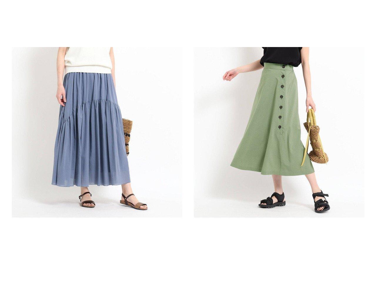 【Dessin/デッサン】の【XS~洗える】綿シフォンティアードスカート&【XS~L】サイド釦フレアスカート 【スカート】おすすめ!人気、トレンド・レディースファッションの通販 おすすめで人気の流行・トレンド、ファッションの通販商品 インテリア・家具・メンズファッション・キッズファッション・レディースファッション・服の通販 founy(ファニー) https://founy.com/ ファッション Fashion レディースファッション WOMEN スカート Skirt ティアードスカート Tiered Skirts Aライン/フレアスカート Flared A-Line Skirts 2021年 2021 2021春夏・S/S SS/Spring/Summer/2021 S/S・春夏 SS・Spring/Summer イレギュラー コンパクト ティアードスカート バランス ポケット 切替 夏 Summer 春 Spring 洗える おすすめ Recommend とろみ インナー フレア |ID:crp329100000047532