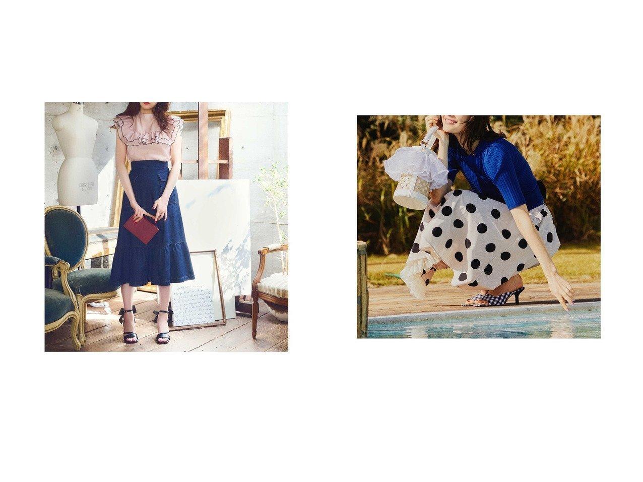 【31 Sons de mode/トランテアン ソン ドゥ モード】の裾チュールミディ丈柄スカート&裾切替デニムロングスカート 【スカート】おすすめ!人気、トレンド・レディースファッションの通販 おすすめで人気の流行・トレンド、ファッションの通販商品 インテリア・家具・メンズファッション・キッズファッション・レディースファッション・服の通販 founy(ファニー) https://founy.com/ ファッション Fashion レディースファッション WOMEN スカート Skirt ロングスカート Long Skirt 春 Spring 切替 デニム フェミニン 2021年 2021 S/S・春夏 SS・Spring/Summer 2021春夏・S/S SS/Spring/Summer/2021 夏 Summer ギャザー ギンガム チュール ドット フレア |ID:crp329100000047533
