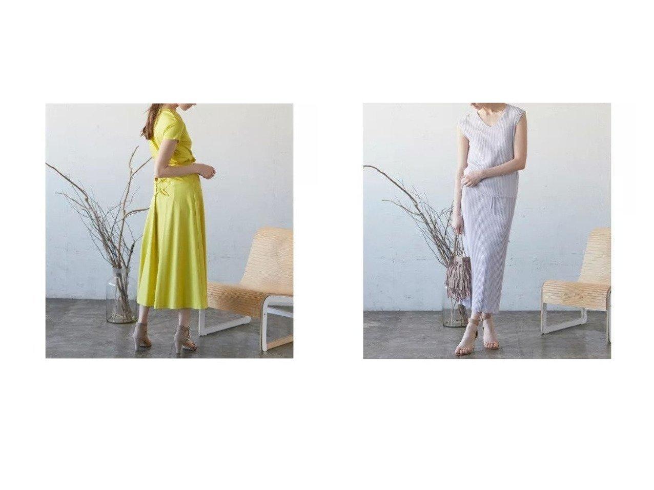 【CLEAR IMPRESSION/クリアインプレッション】の《musee》クールタッチコットンレースアップスカート&ヴィスコースナイロンリブニットタイトスカート 【スカート】おすすめ!人気、トレンド・レディースファッションの通販 おすすめで人気の流行・トレンド、ファッションの通販商品 インテリア・家具・メンズファッション・キッズファッション・レディースファッション・服の通販 founy(ファニー) https://founy.com/ ファッション Fashion レディースファッション WOMEN スカート Skirt カットソー シンプル セットアップ フレアースカート レース おすすめ Recommend ロング |ID:crp329100000047536