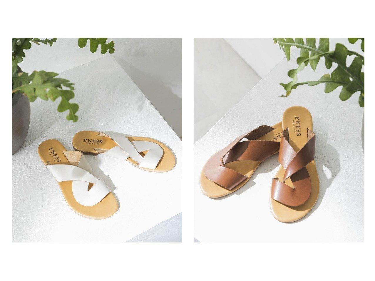 【URBAN RESEARCH/アーバンリサーチ】のENESS フラットクロスサンダル 【シューズ・靴】おすすめ!人気、トレンド・レディースファッションの通販 おすすめで人気の流行・トレンド、ファッションの通販商品 インテリア・家具・メンズファッション・キッズファッション・レディースファッション・服の通販 founy(ファニー) https://founy.com/ ファッション Fashion レディースファッション WOMEN イタリア エレガント サンダル シューズ トレンド ハンド フラット ミュール ラップ |ID:crp329100000047556