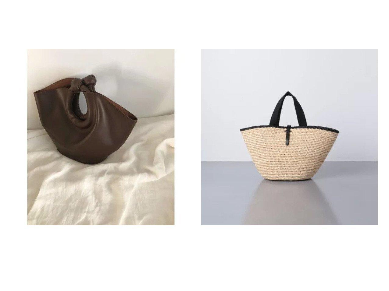 【UNITED ARROWS/ユナイテッドアローズ】のRAF CARLA GRAND バッグ&【marjour/マージュール】のKNOT HANDLE BAG 【バッグ・鞄】おすすめ!人気、トレンド・レディースファッションの通販 おすすめで人気の流行・トレンド、ファッションの通販商品 インテリア・家具・メンズファッション・キッズファッション・レディースファッション・服の通販 founy(ファニー) https://founy.com/ ファッション Fashion レディースファッション WOMEN バッグ Bag なめらか クラッチ タンブラー ハンドバッグ ポーチ アクセサリー インド サンダル 人気 ハンド フランス  ID:crp329100000047565