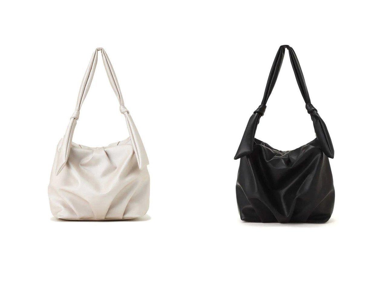 【PROPORTION BODY DRESSING/プロポーション ボディドレッシング】のタックリボンショルダーバッグ 【バッグ・鞄】おすすめ!人気、トレンド・レディースファッションの通販 おすすめで人気の流行・トレンド、ファッションの通販商品 インテリア・家具・メンズファッション・キッズファッション・レディースファッション・服の通販 founy(ファニー) https://founy.com/ ファッション Fashion レディースファッション WOMEN バッグ Bag ショルダー シンプル フォルム リボン  ID:crp329100000047573