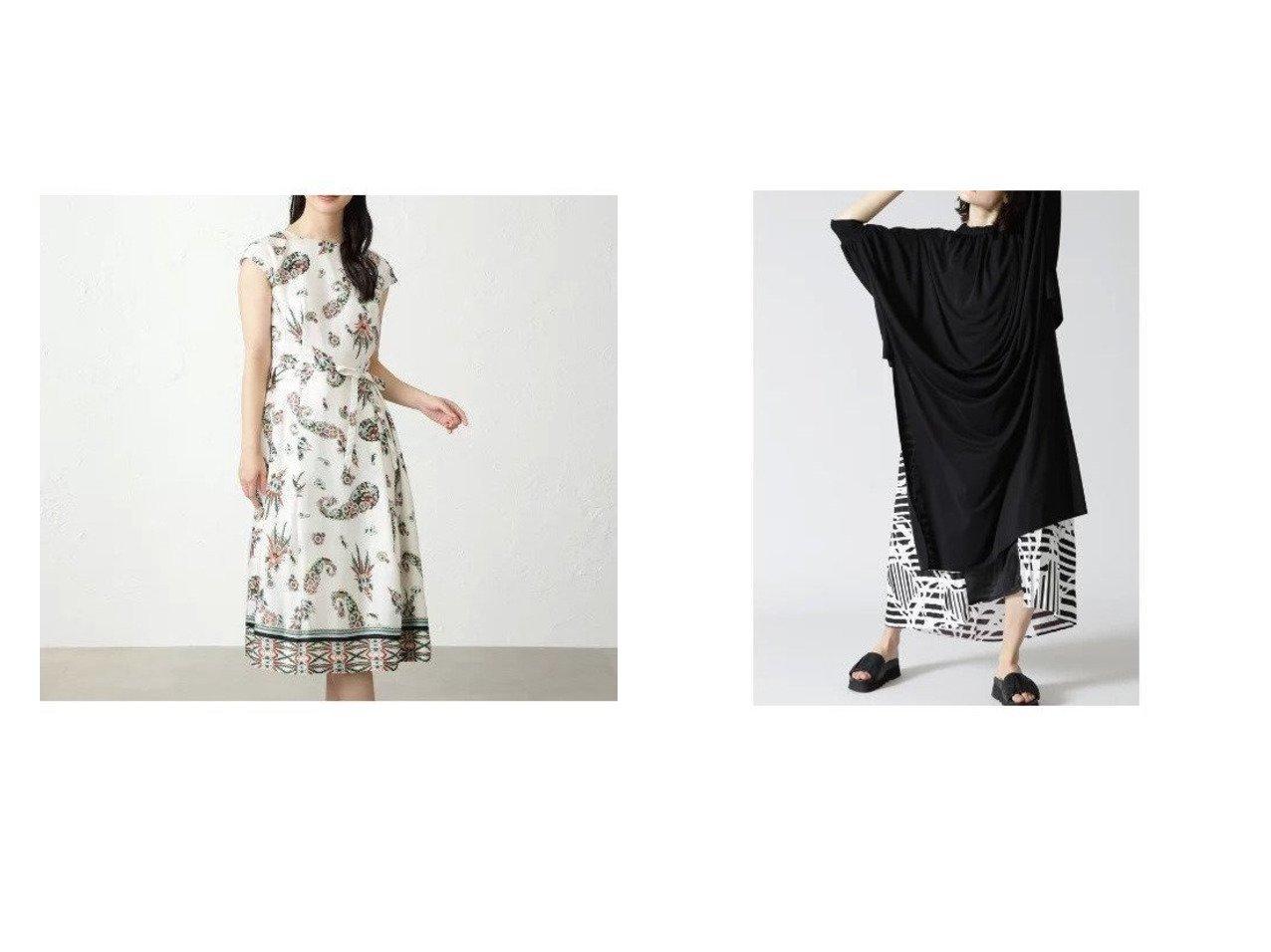【AMACA/アマカ】のボタニカルペイズリードレス&【ADORE/アドーア】のモノトーンジオメトリックプリントワンピース 【ワンピース・ドレス】おすすめ!人気、トレンド・レディースファッションの通販 おすすめで人気の流行・トレンド、ファッションの通販商品 インテリア・家具・メンズファッション・キッズファッション・レディースファッション・服の通販 founy(ファニー) https://founy.com/ ファッション Fashion レディースファッション WOMEN ワンピース Dress ドレス Party Dresses シェイプ ドレス フォーマル プリント ボタニカル ラグジュアリー カットソー プリーツ 夏 Summer |ID:crp329100000047615