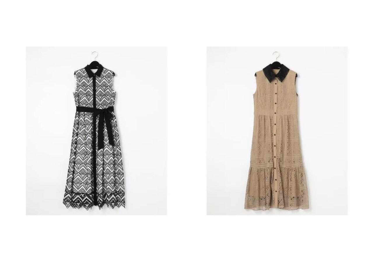 【GRACE CONTINENTAL/グレース コンチネンタル】の衿刺繍ティアードワンピース&カットワークノースリーブワンピース 【ワンピース・ドレス】おすすめ!人気、トレンド・レディースファッションの通販 おすすめで人気の流行・トレンド、ファッションの通販商品 インテリア・家具・メンズファッション・キッズファッション・レディースファッション・服の通販 founy(ファニー) https://founy.com/ ファッション Fashion レディースファッション WOMEN ワンピース Dress ドレス Party Dresses エレガント オケージョン ガーリー スカラップ ドレス フェミニン フォーマル リボン ワーク インナー ギャザー シンプル ティアードワンピース ノースリーブ バランス レース |ID:crp329100000047617