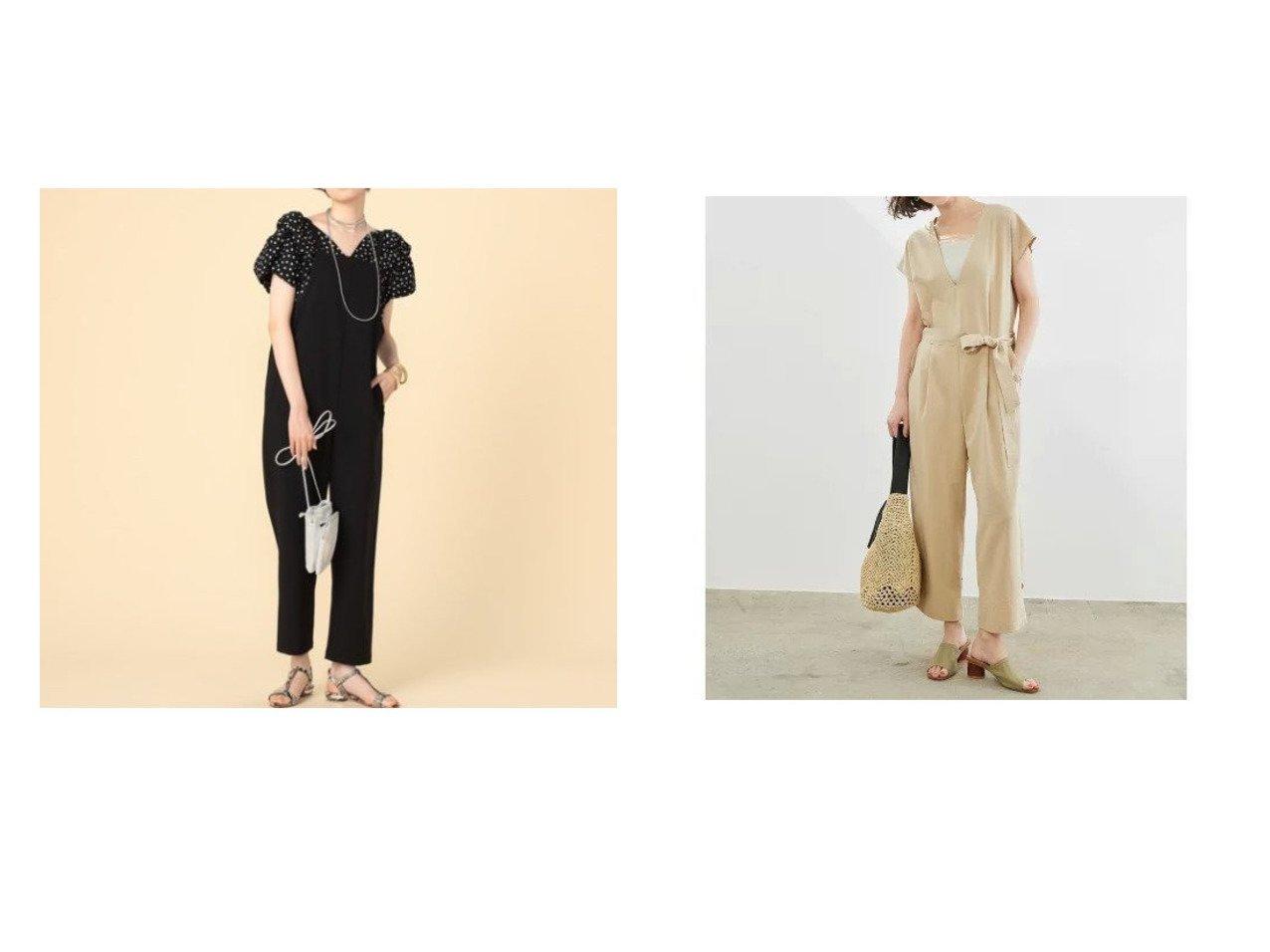 【ROPE' PICNIC/ロペピクニック】の裾絞りジャンプスーツ&【NOLLEY'S/ノーリーズ】のテーパードサロペット 【ワンピース・ドレス】おすすめ!人気、トレンド・レディースファッションの通販 おすすめで人気の流行・トレンド、ファッションの通販商品 インテリア・家具・メンズファッション・キッズファッション・レディースファッション・服の通販 founy(ファニー) https://founy.com/ ファッション Fashion レディースファッション WOMEN ワンピース Dress オールインワン ワンピース All In One Dress サロペット Salopette おすすめ Recommend サロペット ポケット ラップ リボン なめらか シンプル ストレート スーツ フェイク 夏 Summer |ID:crp329100000047621