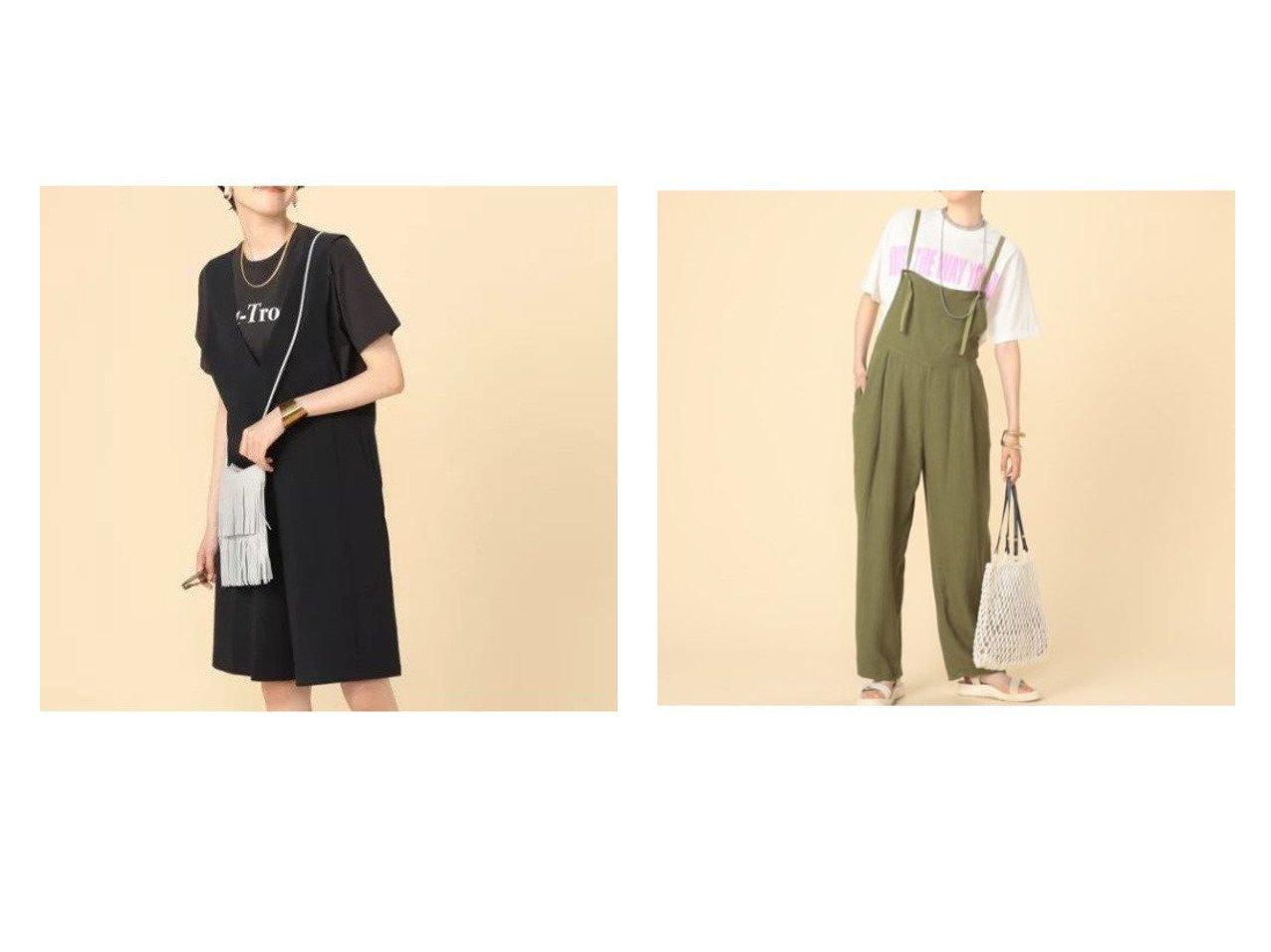 【NOLLEY'S/ノーリーズ】のショートサロペット&【Rie Miller/リエミラー】のミニヘリンボーンサロペット 【ワンピース・ドレス】おすすめ!人気、トレンド・レディースファッションの通販 おすすめで人気の流行・トレンド、ファッションの通販商品 インテリア・家具・メンズファッション・キッズファッション・レディースファッション・服の通販 founy(ファニー) https://founy.com/ ファッション Fashion レディースファッション WOMEN ワンピース Dress オールインワン ワンピース All In One Dress サロペット Salopette インナー サロペット ショート ポケット ラップ ヘリンボーン リネン リボン |ID:crp329100000047623