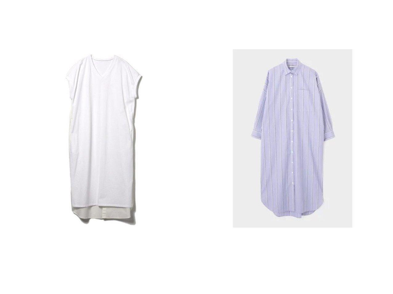 【CLEAR IMPRESSION/クリアインプレッション】の《INED CLARO》カットソードッキングワンピース&【LE PHIL/ル フィル】のイージーケアブロードワンピース 【ワンピース・ドレス】おすすめ!人気、トレンド・レディースファッションの通販 おすすめで人気の流行・トレンド、ファッションの通販商品 インテリア・家具・メンズファッション・キッズファッション・レディースファッション・服の通販 founy(ファニー) https://founy.com/ ファッション Fashion レディースファッション WOMEN ワンピース Dress シャツワンピース Shirt Dresses カットソー キャップ シンプル スリット スリーブ デコルテ ポケット 2021年 2021 2021春夏・S/S SS/Spring/Summer/2021 S/S・春夏 SS・Spring/Summer キャミソール ベーシック 長袖 |ID:crp329100000047630