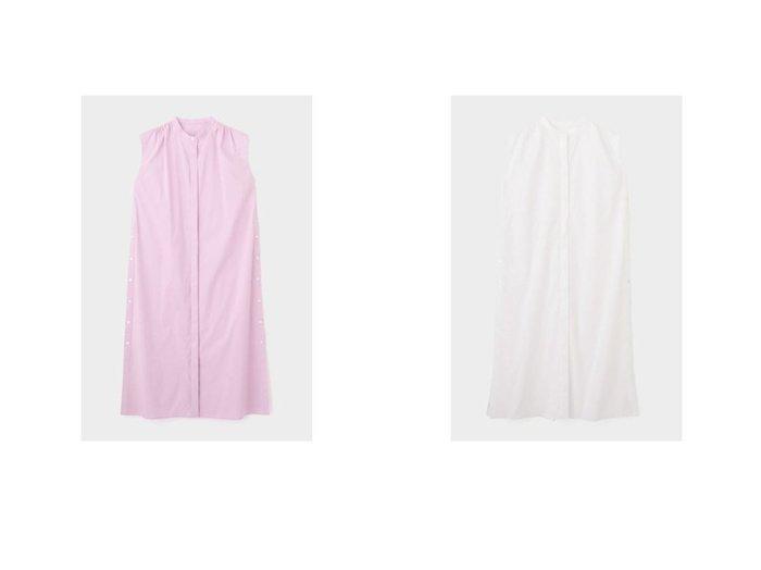【LE PHIL/ル フィル】のストレッチブロードワンピース 【ワンピース・ドレス】おすすめ!人気、トレンド・レディースファッションの通販 おすすめ人気トレンドファッション通販アイテム 人気、トレンドファッション・服の通販 founy(ファニー) ファッション Fashion レディースファッション WOMEN ワンピース Dress シャツワンピース Shirt Dresses 2021年 2021 2021春夏・S/S SS/Spring/Summer/2021 S/S・春夏 SS・Spring/Summer シンプル ストレート スリット ノースリーブ マキシ  ID:crp329100000047631
