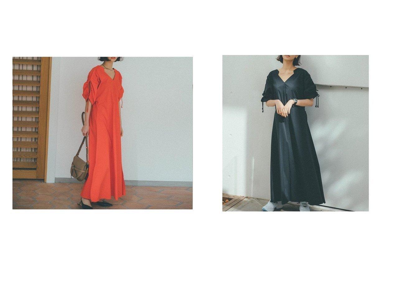 【qualite/カリテ】の【鳳山えりqualite scape】ドロストスリーブワンピース 【ワンピース・ドレス】おすすめ!人気、トレンド・レディースファッションの通販 おすすめで人気の流行・トレンド、ファッションの通販商品 インテリア・家具・メンズファッション・キッズファッション・レディースファッション・服の通販 founy(ファニー) https://founy.com/ ファッション Fashion レディースファッション WOMEN ワンピース Dress シャツワンピース Shirt Dresses カッティング ギャザー スクエア スリット スリーブ 雑誌 ツイスト デコルテ フィット フレア マキシ リゾート ロング 夏 Summer |ID:crp329100000047644
