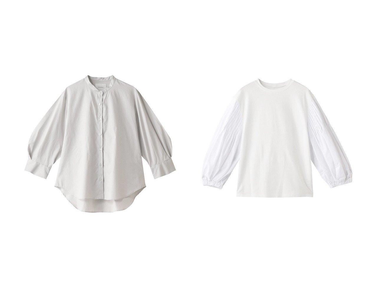 【ADORE/アドーア】のバイオポンチ袖切り替えカットソー&【MIDIUMISOLID/ミディウミソリッド】のシャツ 【トップス・カットソー】おすすめ!人気、トレンド・レディースファッションの通販 おすすめで人気の流行・トレンド、ファッションの通販商品 インテリア・家具・メンズファッション・キッズファッション・レディースファッション・服の通販 founy(ファニー) https://founy.com/ ファッション Fashion レディースファッション WOMEN トップス・カットソー Tops/Tshirt シャツ/ブラウス Shirts/Blouses ロング / Tシャツ T-Shirts カットソー Cut and Sewn ショート シンプル スタンド スリーブ カットソー トレンド フォルム ロング  ID:crp329100000047658