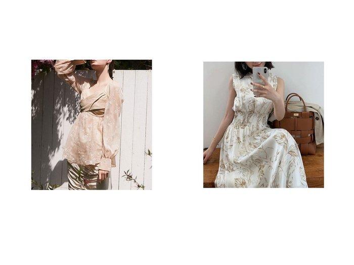 【anuans/アニュアンス】のリーフパターンスタンドカラーワンピース&【eimy istoire/エイミーイストワール】のエンブロイダリーリネンビスチェブラウス おすすめ!人気、トレンド・レディースファッションの通販 おすすめ人気トレンドファッション通販アイテム インテリア・キッズ・メンズ・レディースファッション・服の通販 founy(ファニー) https://founy.com/ ファッション Fashion レディースファッション WOMEN トップス・カットソー Tops/Tshirt シャツ/ブラウス Shirts/Blouses ビスチェ Bustier ワンピース Dress シアー シフォン デニム ドッキング ギャザー シャーリング フィット フレア プリント リーフ |ID:crp329100000047975