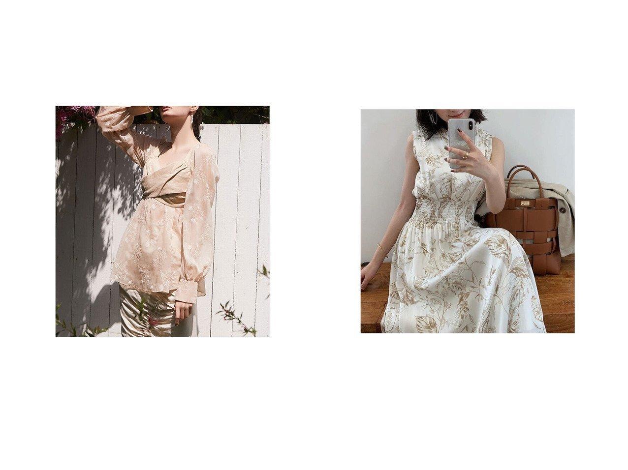 【anuans/アニュアンス】のリーフパターンスタンドカラーワンピース&【eimy istoire/エイミーイストワール】のエンブロイダリーリネンビスチェブラウス おすすめ!人気、トレンド・レディースファッションの通販 おすすめで人気の流行・トレンド、ファッションの通販商品 インテリア・家具・メンズファッション・キッズファッション・レディースファッション・服の通販 founy(ファニー) https://founy.com/ ファッション Fashion レディースファッション WOMEN ワンピース Dress トップス・カットソー Tops/Tshirt シャツ/ブラウス Shirts/Blouses ビスチェ Bustier ギャザー シャーリング フィット フレア プリント リーフ シアー シフォン デニム ドッキング |ID:crp329100000047975