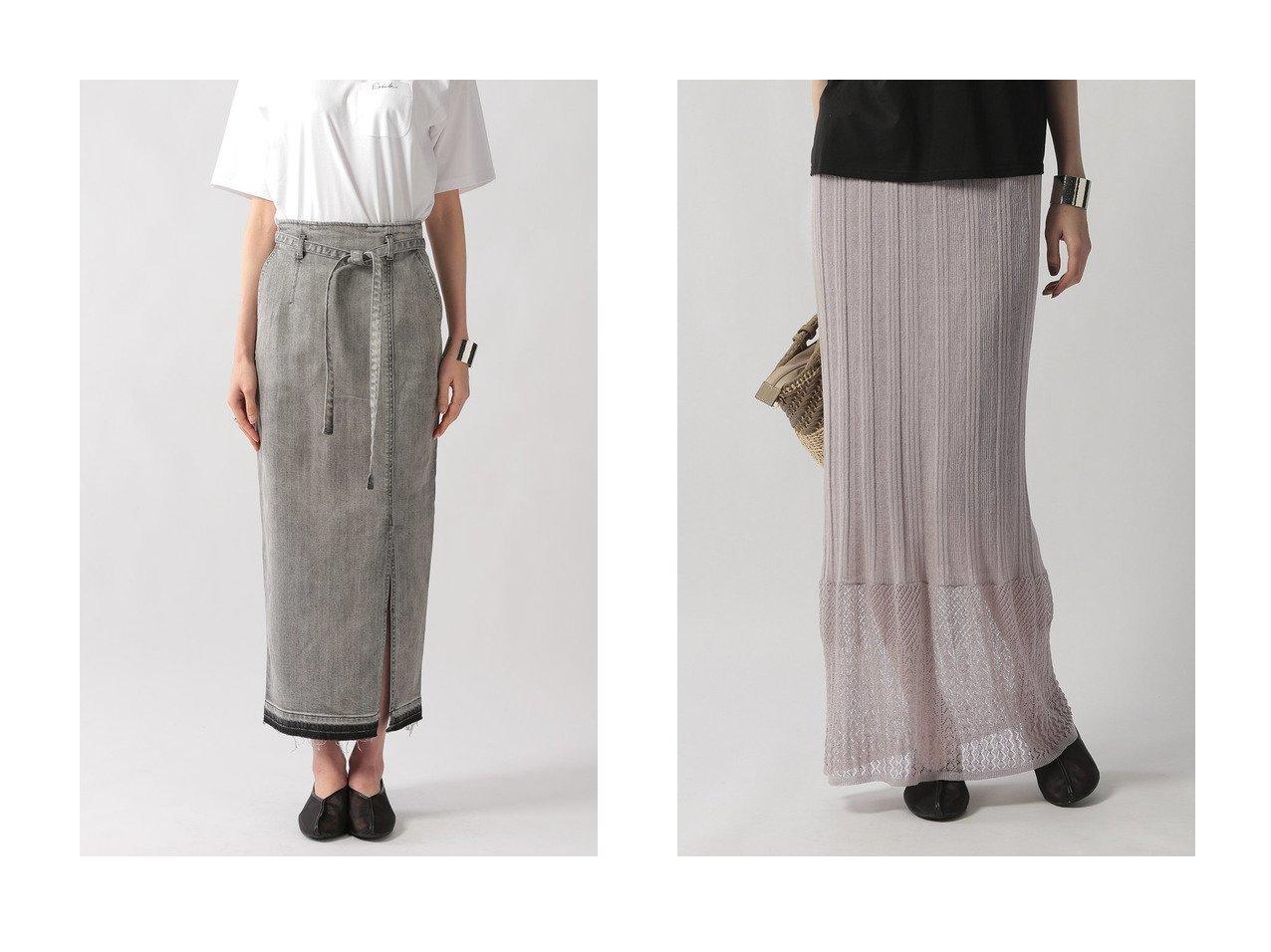 【Ezick/エジック】のカイハラデニムタイトスカート&透かしリブニットスカート 【スカート】おすすめ!人気、トレンド・レディースファッションの通販 おすすめで人気の流行・トレンド、ファッションの通販商品 インテリア・家具・メンズファッション・キッズファッション・レディースファッション・服の通販 founy(ファニー) https://founy.com/ ファッション Fashion レディースファッション WOMEN スカート Skirt ロングスカート Long Skirt ストレッチ スリット タイトスカート デニム ロング 定番 Standard シンプル タンク リネン レース 夏 Summer 透かし  ID:crp329100000048106