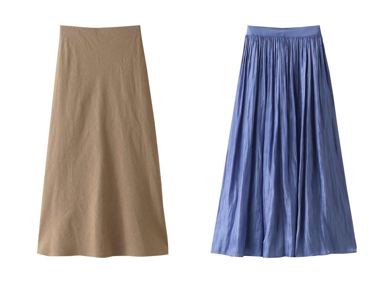 【allureville/アルアバイル】のリネンナロースカート&プラチナサテンギャザースカート 【スカート】おすすめ!人気、トレンド・レディースファッションの通販 おすすめで人気の流行・トレンド、ファッションの通販商品 インテリア・家具・メンズファッション・キッズファッション・レディースファッション・服の通販 founy(ファニー) https://founy.com/ ファッション Fashion レディースファッション WOMEN スカート Skirt S/S・春夏 SS・Spring/Summer サテン シアー 夏 Summer 春 Spring シンプル プリント リネン  ID:crp329100000048108