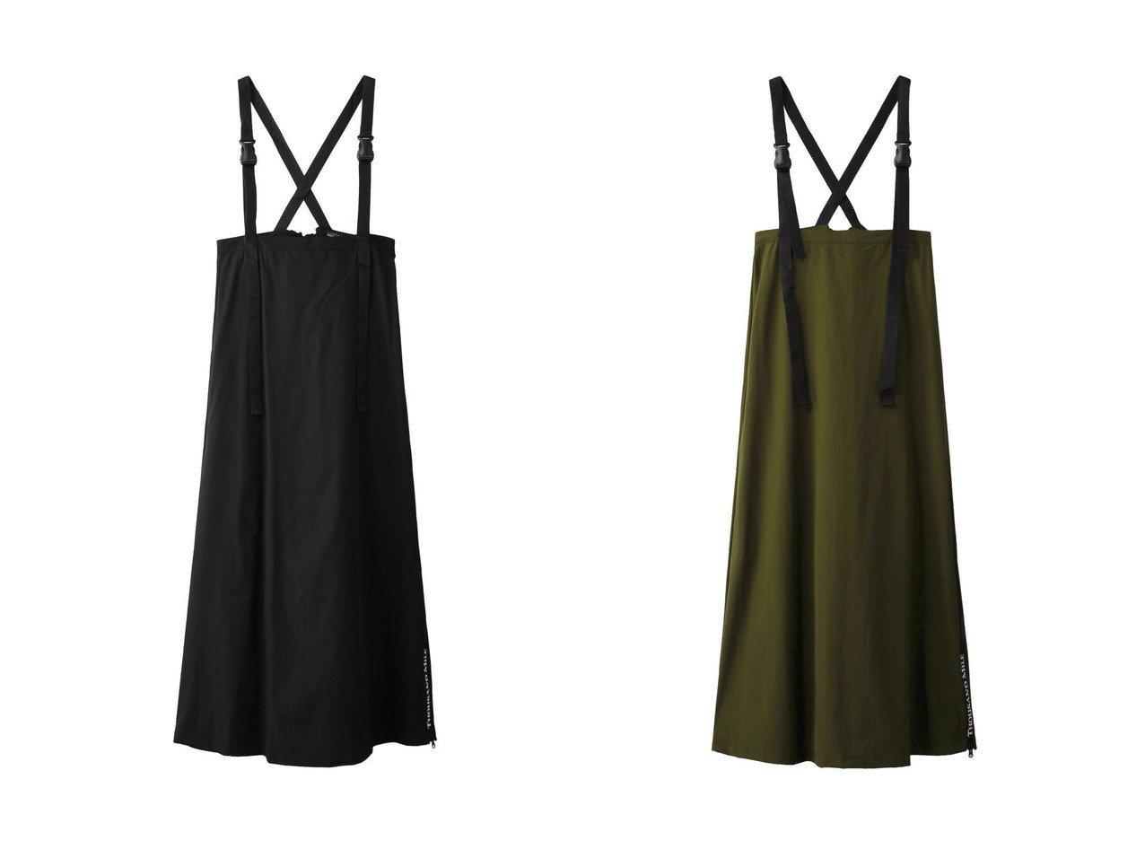 【ROSE BUD/ローズバッド】の【THOUSAND MILE×GENE HEAVENS】クロスストラップロングジャンパースカート 【スカート】おすすめ!人気、トレンド・レディースファッションの通販 おすすめで人気の流行・トレンド、ファッションの通販商品 インテリア・家具・メンズファッション・キッズファッション・レディースファッション・服の通販 founy(ファニー) https://founy.com/ ファッション Fashion レディースファッション WOMEN スカート Skirt シンプル ドレープ ラップ ロング  ID:crp329100000048110