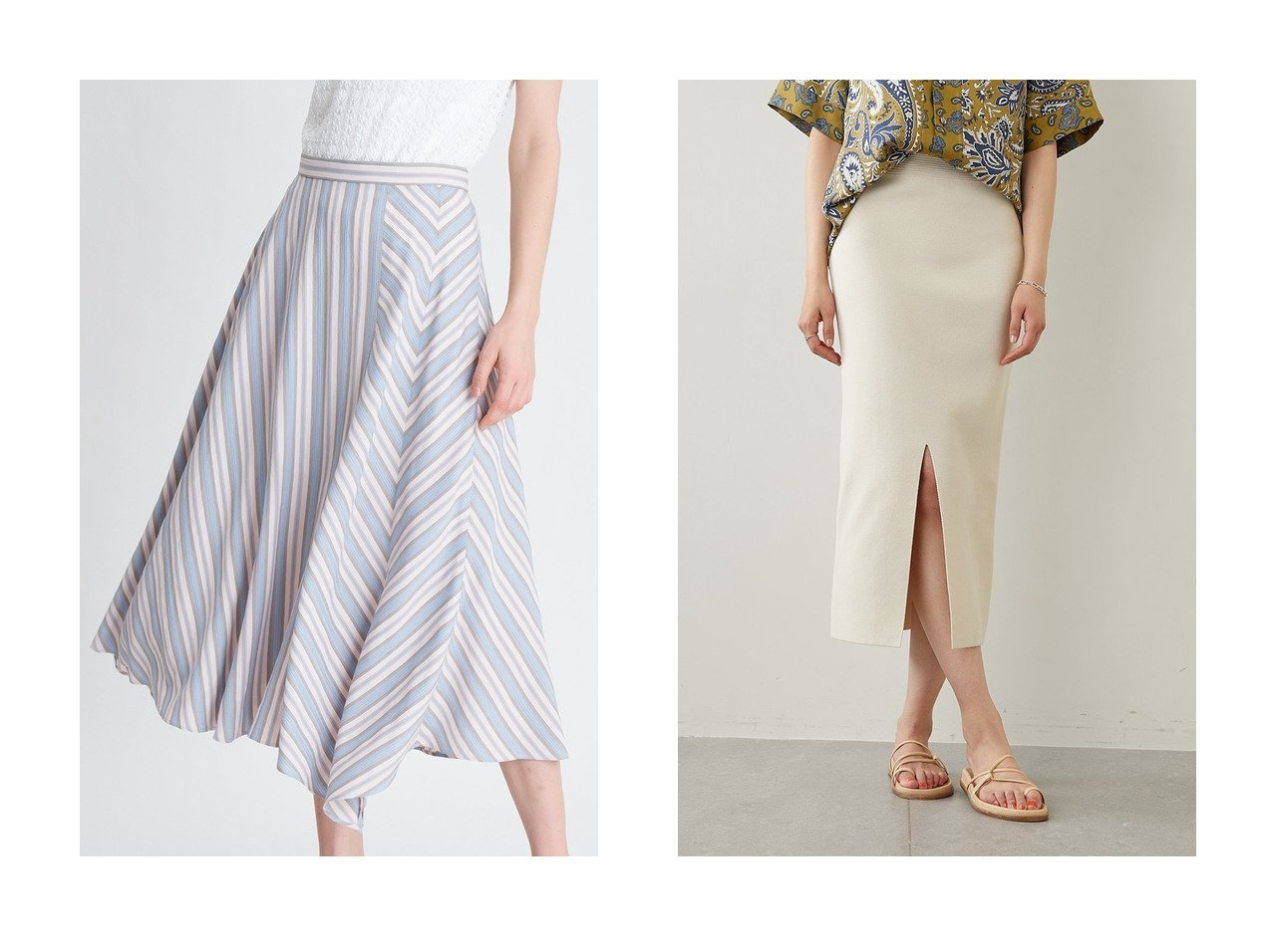 【ANAYI/アナイ】のドビーストライプスカート&【Whim Gazette/ウィムガゼット】のニットタイトスカート 【スカート】おすすめ!人気、トレンド・レディースファッションの通販 おすすめで人気の流行・トレンド、ファッションの通販商品 インテリア・家具・メンズファッション・キッズファッション・レディースファッション・服の通販 founy(ファニー) https://founy.com/ ファッション Fashion レディースファッション WOMEN スカート Skirt おすすめ Recommend アシンメトリー ストライプ パール フレア ヘムライン カットソー シンプル ジャケット ストレッチ スリット フォルム フラット ブルゾン ミラノリブ  ID:crp329100000048113