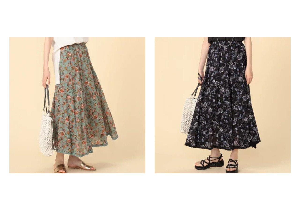 【NOLLEY'S/ノーリーズ】のフラワープリントロングスカート 【スカート】おすすめ!人気、トレンド・レディースファッションの通販 おすすめで人気の流行・トレンド、ファッションの通販商品 インテリア・家具・メンズファッション・キッズファッション・レディースファッション・服の通販 founy(ファニー) https://founy.com/ ファッション Fashion レディースファッション WOMEN スカート Skirt ロングスカート Long Skirt ギャザー バランス プリント マキシ ロング  ID:crp329100000048117