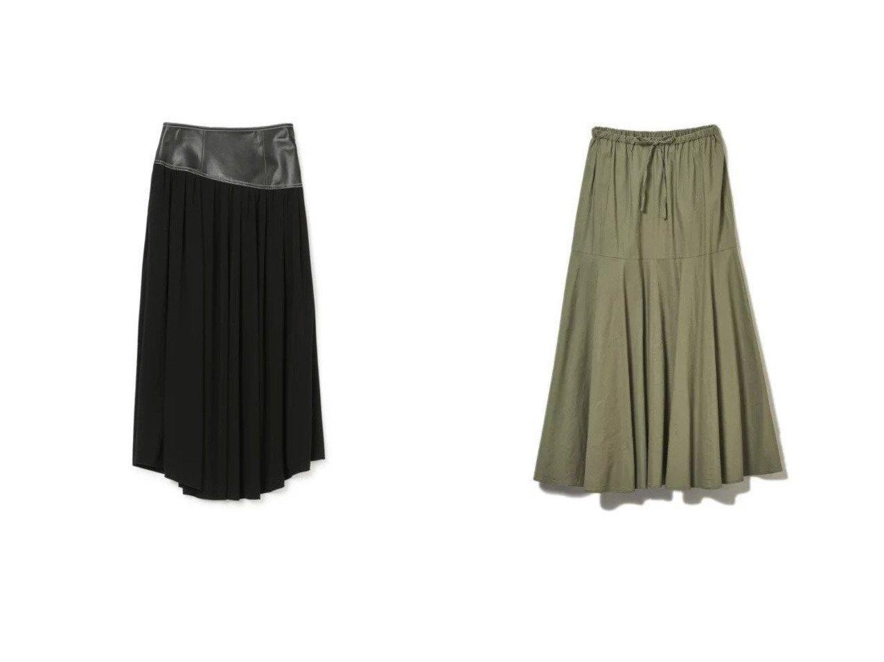 【CLEAR IMPRESSION/クリアインプレッション】の《INED CLARO》リネンレーヨンティアードスカート&【LE CIEL BLEU/ルシェル ブルー】のLeatherCorsetスカート 【スカート】おすすめ!人気、トレンド・レディースファッションの通販 おすすめで人気の流行・トレンド、ファッションの通販商品 インテリア・家具・メンズファッション・キッズファッション・レディースファッション・服の通販 founy(ファニー) https://founy.com/ ファッション Fashion レディースファッション WOMEN スカート Skirt ティアードスカート Tiered Skirts サンダル シューズ ショート ジャケット スニーカー セットアップ ティアードスカート バレエ フラット フレア リネン コルセット コンビ フェイクレザー マキシ ロング  ID:crp329100000048118
