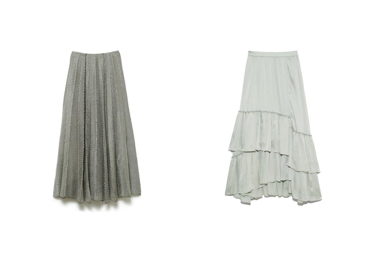 【Lily Brown/リリーブラウン】のランダムティアードスカート&【FRAY I.D/フレイ アイディー】のシフトプリーツスカート 【スカート】おすすめ!人気、トレンド・レディースファッションの通販 おすすめで人気の流行・トレンド、ファッションの通販商品 インテリア・家具・メンズファッション・キッズファッション・レディースファッション・服の通販 founy(ファニー) https://founy.com/ ファッション Fashion レディースファッション WOMEN スカート Skirt ティアードスカート Tiered Skirts プリーツスカート Pleated Skirts 春 Spring カットソー サテン スマート ティアードスカート バランス フリル プレーン ランダム 2021年 2021 S/S・春夏 SS・Spring/Summer 2021春夏・S/S SS/Spring/Summer/2021 夏 Summer  ID:crp329100000048120