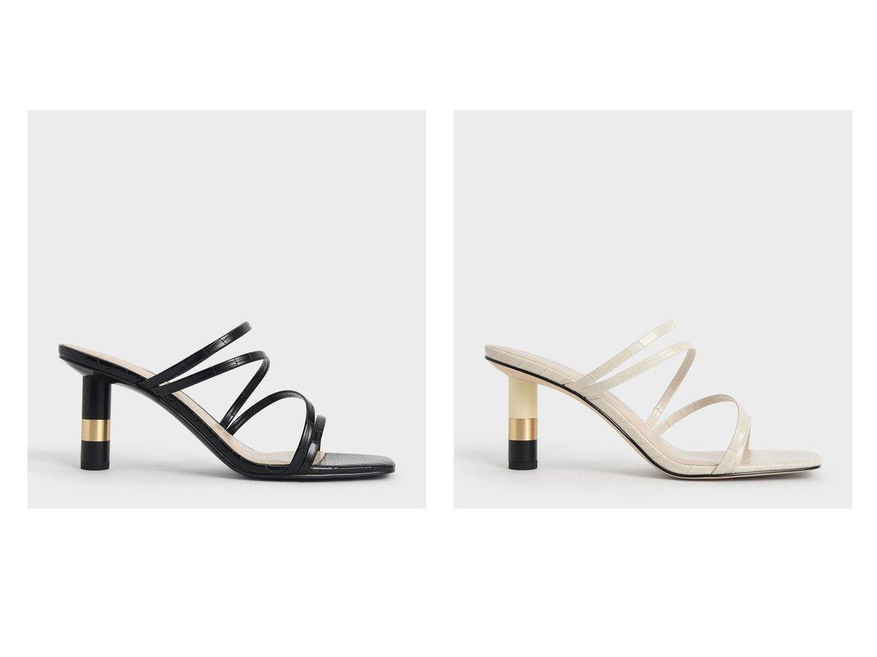 【CHARLES & KEITH/チャールズ アンド キース】のクロックエフェクト シリンドリカルヒールミュール Croc-Effect Cylindrical Heel Mules (AnimalP 【シューズ・靴】おすすめ!人気、トレンド・レディースファッションの通販 おすすめで人気の流行・トレンド、ファッションの通販商品 インテリア・家具・メンズファッション・キッズファッション・レディースファッション・服の通販 founy(ファニー) https://founy.com/ ファッション Fashion レディースファッション WOMEN 春 Spring 今夏 サンダル トレンド フェミニン ラップ 2021年 2021 S/S・春夏 SS・Spring/Summer 2021春夏・S/S SS/Spring/Summer/2021 夏 Summer  ID:crp329100000048146