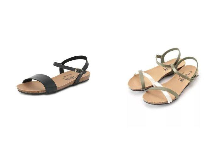 【Dessin/デッサン】のPLAKTON クロスストラップサンダル 575029&【MELROSE claire/メルローズ クレール】のアンクルストラップフラットサンダル 【シューズ・靴】おすすめ!人気、トレンド・レディースファッションの通販 おすすめ人気トレンドファッション通販アイテム 人気、トレンドファッション・服の通販 founy(ファニー)  ファッション Fashion レディースファッション WOMEN アウトドア サンダル シューズ フェルト ラップ |ID:crp329100000048156