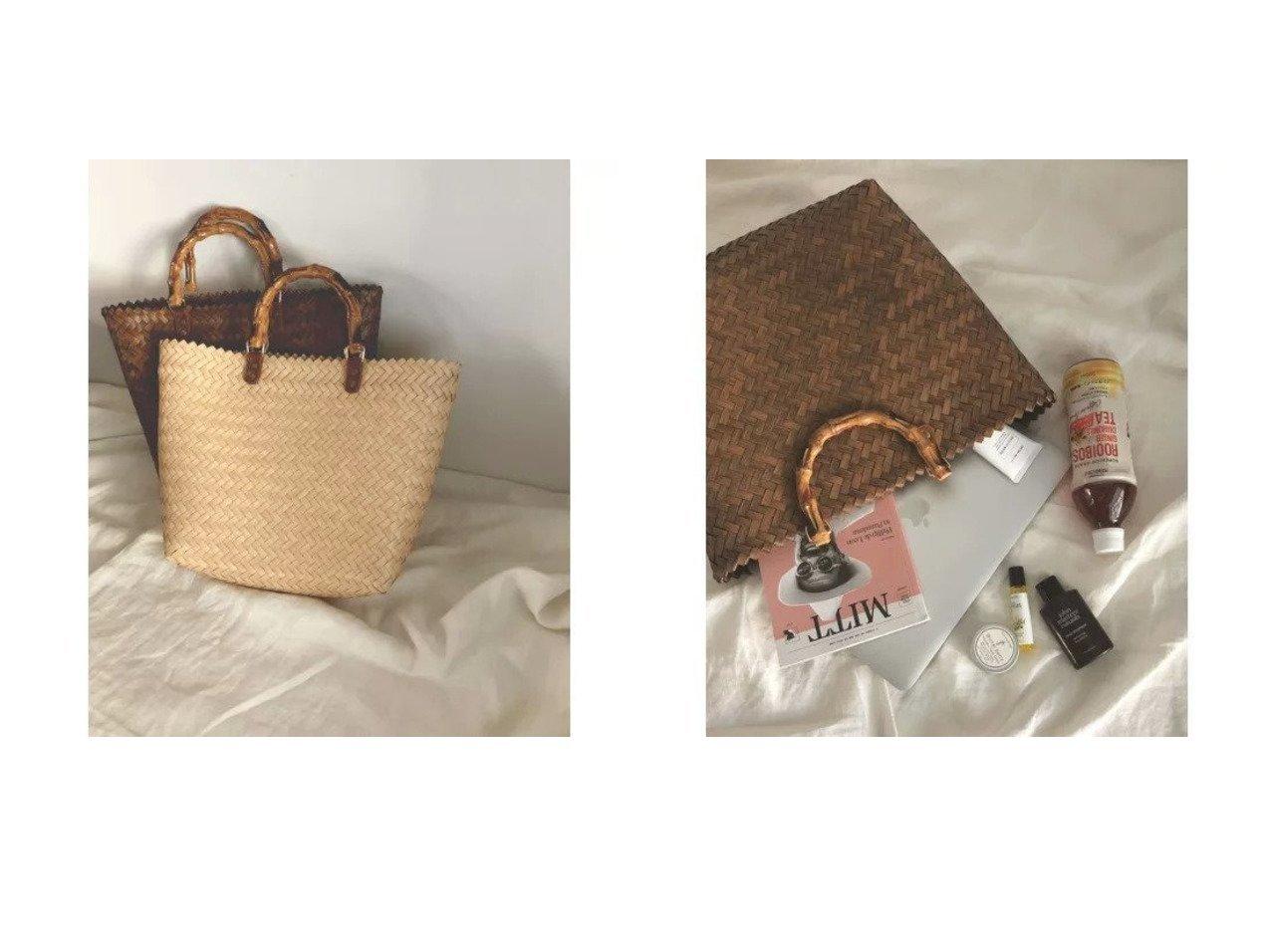 【marjour/マージュール】のBAMBOO HANDLE BASKET BAG 【バッグ・鞄】おすすめ!人気、トレンド・レディースファッションの通販 おすすめで人気の流行・トレンド、ファッションの通販商品 インテリア・家具・メンズファッション・キッズファッション・レディースファッション・服の通販 founy(ファニー) https://founy.com/ ファッション Fashion レディースファッション WOMEN バッグ Bag おすすめ Recommend ストール バンブー フェイク ポケット 傘  ID:crp329100000048178