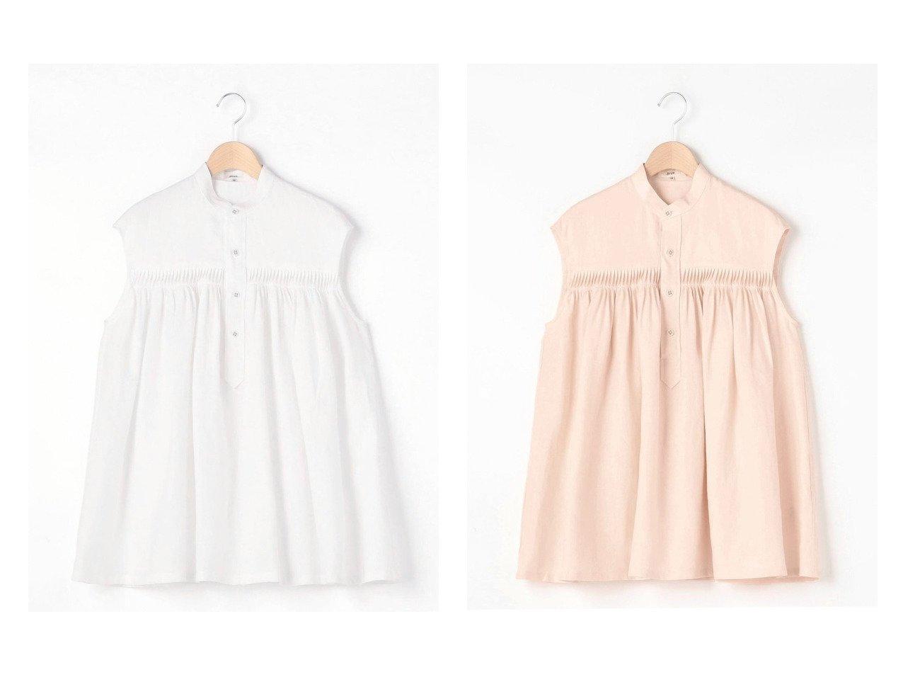 【Bshop/ビショップ】の【Scye】リネンピンタック ノースリーブシャツ WOMEN 【トップス・カットソー】おすすめ!人気、トレンド・レディースファッションの通販 おすすめで人気の流行・トレンド、ファッションの通販商品 インテリア・家具・メンズファッション・キッズファッション・レディースファッション・服の通販 founy(ファニー) https://founy.com/ ファッション Fashion レディースファッション WOMEN トップス・カットソー Tops/Tshirt キャミソール / ノースリーブ No Sleeves シャツ/ブラウス Shirts/Blouses アンティーク キャミソール ギャザー デニム ノースリーブ フレア リネン 人気 定番 Standard |ID:crp329100000048309