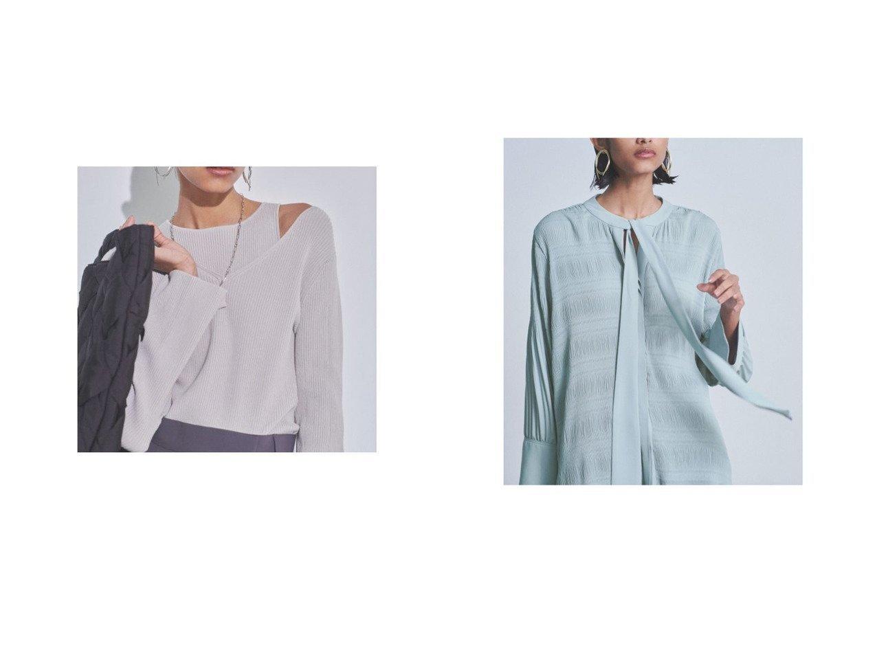 【Mila Owen/ミラオーウェン】のマジョリカプリーツボウタイブラウス&タンクレイヤードリブニットトップス 【トップス・カットソー】おすすめ!人気、トレンド・レディースファッションの通販 おすすめで人気の流行・トレンド、ファッションの通販商品 インテリア・家具・メンズファッション・キッズファッション・レディースファッション・服の通販 founy(ファニー) https://founy.com/ ファッション Fashion レディースファッション WOMEN トップス・カットソー Tops/Tshirt ニット Knit Tops シャツ/ブラウス Shirts/Blouses アメリカン インナー ウォッシャブル 春 Spring カットソー スマート スリット スリーブ タンク デコルテ デニム フィット リブニット 2021年 2021 S/S・春夏 SS・Spring/Summer 2021春夏・S/S SS/Spring/Summer/2021 おすすめ Recommend 夏 Summer |ID:crp329100000048315