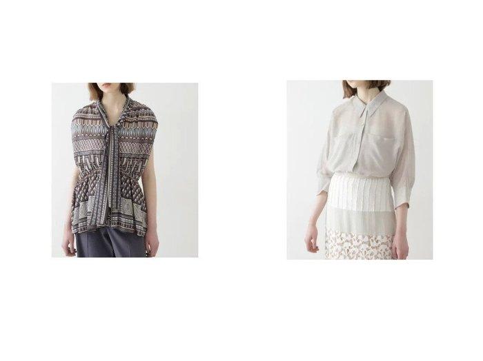 【BOSCH/ボッシュ】のアフリカンプリント ボータイブラウス&シアーフォルムシャツ 【トップス・カットソー】おすすめ!人気、トレンド・レディースファッションの通販 おすすめ人気トレンドファッション通販アイテム 人気、トレンドファッション・服の通販 founy(ファニー) ファッション Fashion レディースファッション WOMEN トップス・カットソー Tops/Tshirt シャツ/ブラウス Shirts/Blouses ギャザー サテン スタンダード トレンド ノースリーブ フォルム プリント ボーダー シアー 羽織 |ID:crp329100000048330