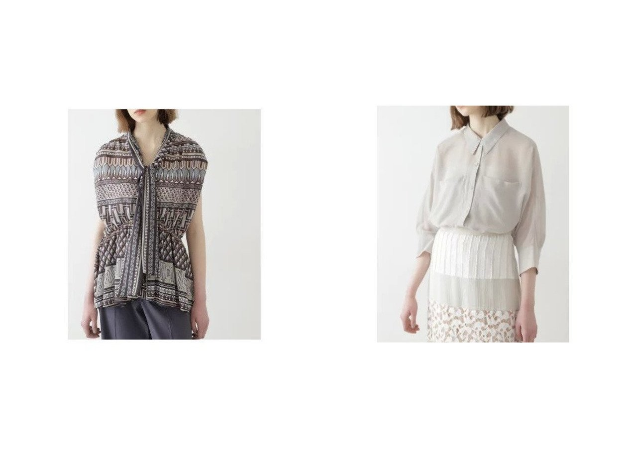 【BOSCH/ボッシュ】のアフリカンプリント ボータイブラウス&シアーフォルムシャツ 【トップス・カットソー】おすすめ!人気、トレンド・レディースファッションの通販 おすすめで人気の流行・トレンド、ファッションの通販商品 インテリア・家具・メンズファッション・キッズファッション・レディースファッション・服の通販 founy(ファニー) https://founy.com/ ファッション Fashion レディースファッション WOMEN トップス・カットソー Tops/Tshirt シャツ/ブラウス Shirts/Blouses ギャザー サテン スタンダード トレンド ノースリーブ フォルム プリント ボーダー シアー 羽織 |ID:crp329100000048330