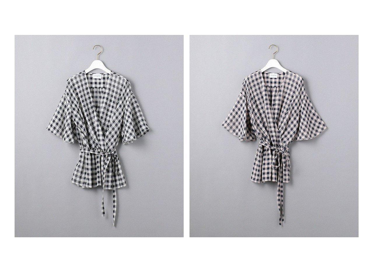 【UNITED ARROWS/ユナイテッドアローズ】のUWCC P ギンガムチェック カシュクール ブラウス 【トップス・カットソー】おすすめ!人気、トレンド・レディースファッションの通販 おすすめで人気の流行・トレンド、ファッションの通販商品 インテリア・家具・メンズファッション・キッズファッション・レディースファッション・服の通販 founy(ファニー) https://founy.com/ ファッション Fashion レディースファッション WOMEN トップス・カットソー Tops/Tshirt シャツ/ブラウス Shirts/Blouses NEW・新作・新着・新入荷 New Arrivals カシュクール ギンガム サッカー チェック フィット |ID:crp329100000048369