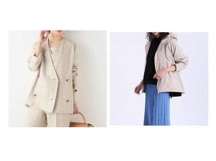 【INED/イネド】の《Maison de Beige》マウンテンパーカー&【Plage/プラージュ】の【R IAM】アサツィード ジャケット 【アウター】おすすめ!人気、トレンド・レディースファッションの通販 おすすめ人気トレンドファッション通販アイテム 人気、トレンドファッション・服の通販 founy(ファニー) ファッション Fashion レディースファッション WOMEN アウター Coat Outerwear コート Coats モッズ/フィールドコート Mods Coats/Field Coats ジャケット Jackets ノーカラージャケット No Collar Leather Jackets おすすめ Recommend スポーツ タイトスカート ドレープ パーカー ボトム ポケット 2021年 2021 2021春夏・S/S SS/Spring/Summer/2021 S/S・春夏 SS・Spring/Summer ジャケット ジュエリー ダウン ダブル ツィード デニム フリンジ |ID:crp329100000048688